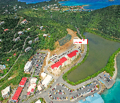 Location Of New Hotel   The New East End Plaza At Red Hook St. Thomas Virgin Islands HLIII